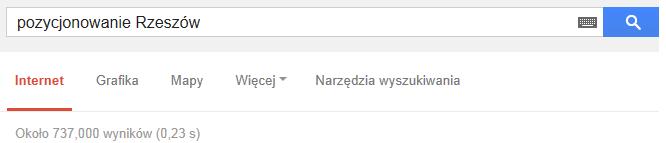 Pozycjonowanie stron WWW w Rzeszowie